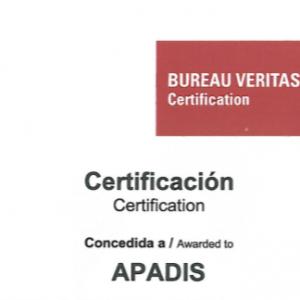 certificado calidad apadis