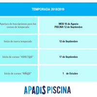 Temporada 18-19 piscina APADIS